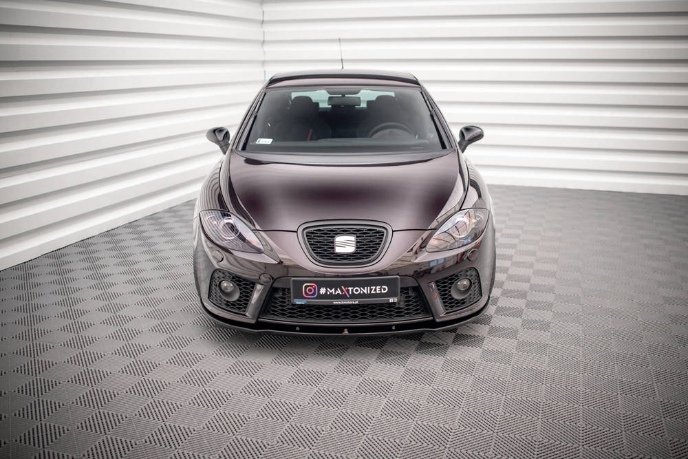 Frontdiffusor Seat Leon Mk2 Cupra Fr Vor Facelift Gloss Black Shop Seat Leon Cupra Mk2 Seat Leon Cupra Mk2 Maxton Design